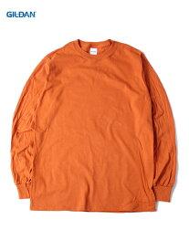 【USモデル/即納】GILDAN ギルダン ロンT ロングスリーブ ウルトラコットン 無地 プレーン テキサスオレンジ 6.0oz LONG SLEEVE Tee-SHIRTS texas orange