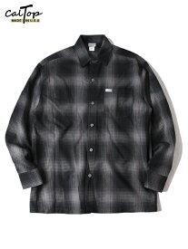 【USモデル】Cal Top キャルトップ チェック ロングスリーブ シャツ 長袖 ブラック/チャコール CHECK LONG SLEEVE SHIRT black/charcoal
