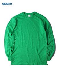 【USモデル/即納】GILDAN ギルダン ロンT ロングスリーブTシャツ ウルトラコットン 無地 プレーン アイリッシュグリーン 緑 6.0oz LONG SLEEVE T-SHIRTS irish green