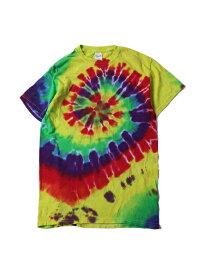 【USモデル/即納】マルチカラータイダイTシャツ サイクロン スパイラル クラシックレインボー TIEDYE CYCLONE S/S TEE classic rainbow
