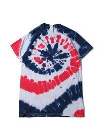 【USモデル/即納】マルチカラータイダイTシャツ サイクロン スパイラル 星条旗 TIEDYE CYCLONE S/S TEE USA