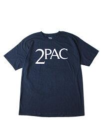 【インポート/即納】2PAC LOGO S/S TEE navy ロゴ Tシャツ 紺 ネイビー ヒップホップ アーティスト