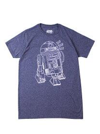 【インポート/即納】STAR WARS R2D2 TEE-SHIRTS navy スターウォーズ 半袖Tシャツ プリント キャラクター navy ネイビー