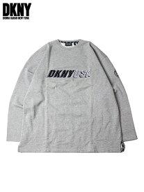 【ビンテージ】【正規品】DKNY ダナキャラン ロゴ クルーネック スウェット グレー UAS LOGO CREWNECK SWEAT gray