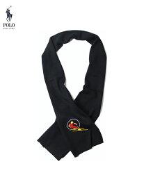 【US限定モデル】ポロ ラルフローレン スキー ウールマフラー ストール スカーフ ブラック POLO Ralph Lauren SKISCARVES black