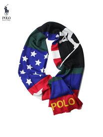 【US限定モデル】ポロ ラルフローレン スキー 大判マフラー ストール スカーフ マルチカラー POLO Ralph Lauren SKI USA SCARVES green/red/blue