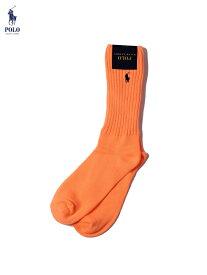 POLO Ralph Lauren ポロ ラルフローレン PONY SAFETY COLOR HI SOCKS SOX orange セーフティーカラー ポニー ハイソックス 24cm〜30cm