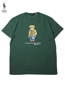 【インポート】POLORalphLaurenHUNTINGJACKETBEARS/STeegreenポロラルフローレンベアーTシャツグリーン