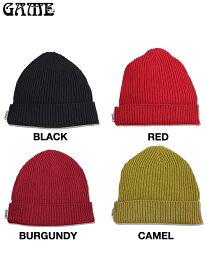 【即納】GAME(ゲーム) / コットンビーニー COTTON BEANIE black/red/burgundy/camel