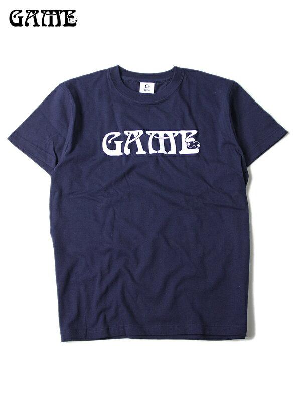 【あす楽】GAME(ゲーム) / LOGO Tee S/S navy Tシャツ ロゴT 半袖 トップス 5.6オンス 紺 ネイビー