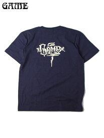 【あす楽】GAME ゲーム GAME LOGO S/S TEE navy MEXICO Tシャツ メキシコ ロゴ バックプリント グラフィティ 紺 ネイビー