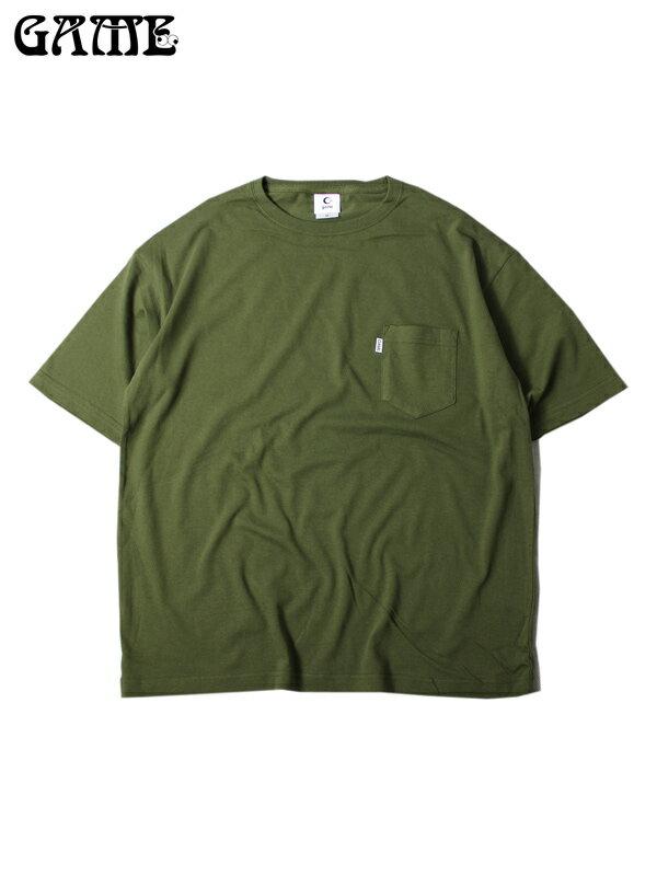 再入荷【あす楽】ビッグTシャツ ワイド ビッグシルエットT ポケットT 無地 半袖 オリーブ GAME(ゲーム) / BIG SILHOUETTE POCKET S/S Tee olive