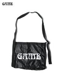 【即納】GAME ゲーム ナイロン リップストップ サコッシュ ブラック NYLON RIPSTOP SACOCHE black