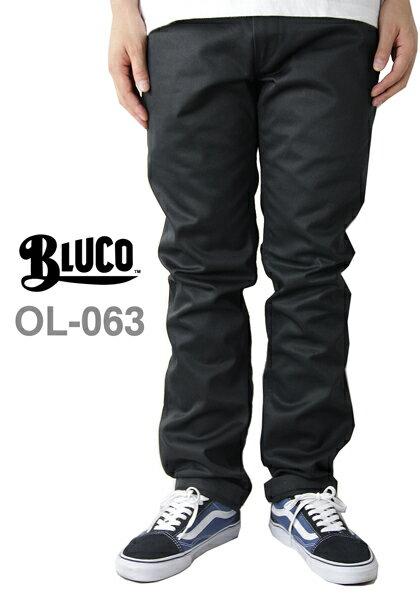 【あす楽対応】BLUCO work garment / OL-063 WORK PANTS Slim black(ブルコ ワークガーメント)(スリムワークパンツ ブラック/黒)