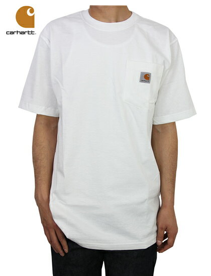【あす楽対応】Carhartt (カーハート) / POCKET T-SHIRT white ポケットTシャツ ホワイト 白