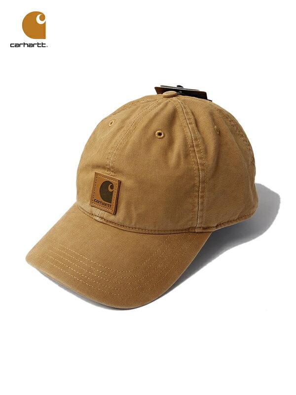 【あす楽】Carhartt カーハート コットンキャップ 6パネルキャップ ウォッシュ ロゴ ブラウン 茶色 ODESSA CAP brown