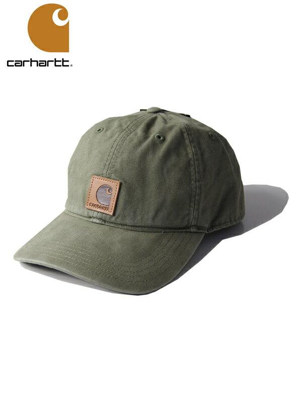 【インポート】【正規品】Carhartt カーハート コットンキャップ 6パネルキャップ ウォッシュ ロゴ オリーブ ODESSA CAP olive