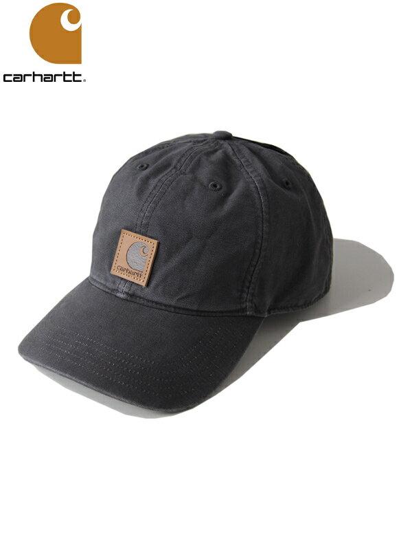 【あす楽】Carhartt カーハート コットンキャップ 6パネルキャップ ウォッシュ ロゴ ブラック 黒 ODESSA CAP washed black