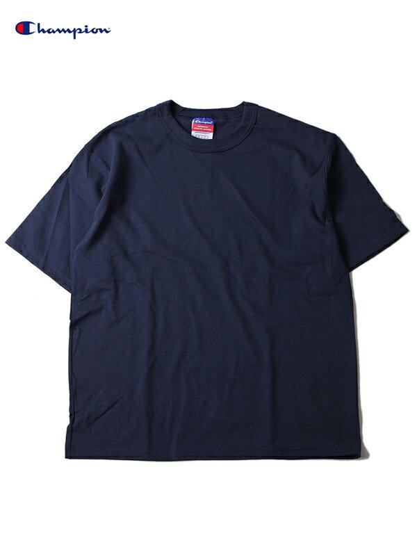 【即納】Champion(チャンピオン) / ヘリテージジャージーTシャツ US規格 へヴィーウェイト ビッグTシャツ 7オンス 紺 ネイビー 7oz Heritage Jersey Tee-shirt navy