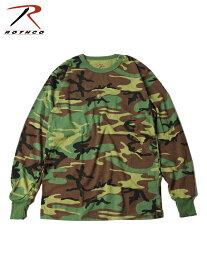 【正規品】【インポート】ROTHCO ロスコ ロングスリーブ カモ Tシャツ ウッドランド カモ 迷彩 LONG SLEVE CAMO T SHIRTS woodland camo