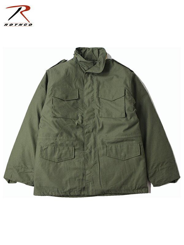 【即納】ROTHCO ロスコ M-65 フィールド ミリタリー ジャケット オリーブ 裏地取り外し可能 FIELD JACKET olive