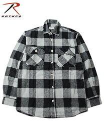 【インポート】ROTHCO ロスコ ネルシャツ ブロックチェック フランネルシャツ グレー/ブラック EXTRA HEAVY WEIGHT FLANNEL SHIRT gray/black