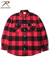 【インポート】ROTHCO ロスコ ネルシャツ ブロックチェック フランネルシャツ レッド/ブラック EXTRA HEAVY WEIGHT FLANNEL SHIRT red/black