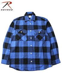 【インポート】ROTHCO ロスコ ネルシャツ ブロックチェック フランネルシャツ ブルー/ブラック EXTRA HEAVY WEIGHT FLANNEL SHIRT blue/black