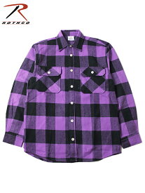 【インポート】ROTHCO ロスコ ネルシャツ ブロックチェック フランネルシャツ パープル/ブラック EXTRA HEAVY WEIGHT FLANNEL SHIRT purple/black
