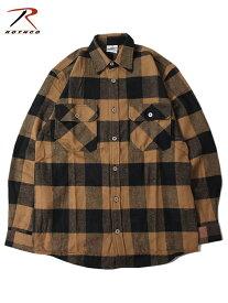 【インポート】ROTHCO ロスコ ネルシャツ ブロックチェック フランネルシャツ ブラウン/ブラック EXTRA HEAVY WEIGHT FLANNEL SHIRT brown/black