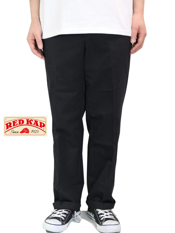 【あす楽】RED KAP レッドキャップ 8オンス プレスト ワークパンツ チノパン 黒 ブラック PT010 WORK PANTS black