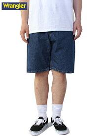 【USモデル】ラングラー デニムショーツ ショートパンツ ハーフパンツ ワイド 青系 インディゴ ブルー Wrangler Relaxed Fit Denim Shorts blue