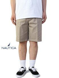 【USモデル/あす楽】NAUTICA ノーティカ コットン チノ ショートパンツ カーキ ベージュ CHINO SHORT PANTS khaki