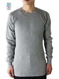 再入荷【即納】UNITED SPORTS HEADLINE CLASSIC(ユナイテッドスポーツ) / サーマルシャツ ワッフル 長袖 グレー THERMAL L/S SHIRTS gray