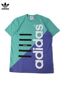 【USモデル】adidas ORIGINALS アディダス オリジナルス 2TONE TEE e.green/purple Tシャツ バイカラー ロゴ 半袖