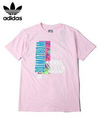 【インポート正規品】adidas アディダス ロゴ 半袖 Tシャツ ピンク WORLD WIDE TEE pink