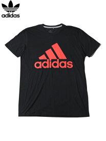 【インポート正規品】adidas アディダス パフォーマンス ロゴ 半袖 Tシャツ ブラック/レッド PERFORMANCE LOGO TEE black/red