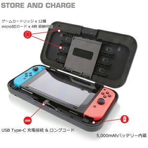 【NYKO】NykoPowerShellCaseforNintendoSwitchスィッチ本体キャリングバッテリーケース【新品】充電可能なキャリングケース!