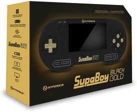 【HYPERKIN/ハイパキン】 SUPABOY Black Gold Special Edition / スパボーイ・ブラック・ゴールド・スペシャルエディション【スーパーファミコン/SNES(NTSC/PAL)対応)】ポータブル互換機