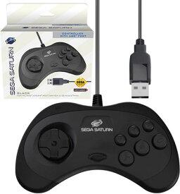 セガサターン【セガ公認】SEGA SATURN ゲームパッド コントローラー USB Controller 8-Button Arcade Pad Black for PC/Mac/Steam/SWITCH 有線