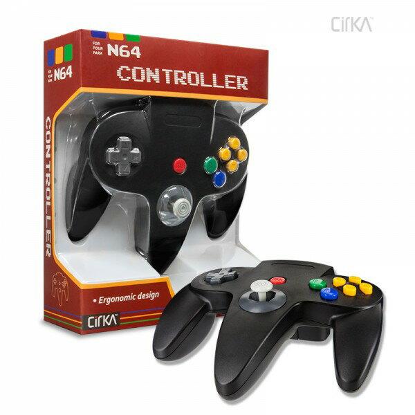 【ブラック】nintendo64コントローラー ゲームコントローラー N64 Cirka Controller 【サードパーティー社製】