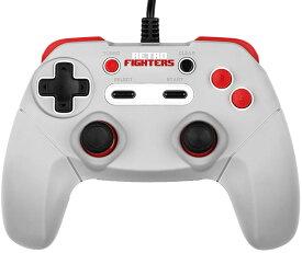 jab gamepad 【RETRO FIGHTERS】NES PC ニューファミコン ゲームパッド コントローラー 連射機能 キーホルダー付