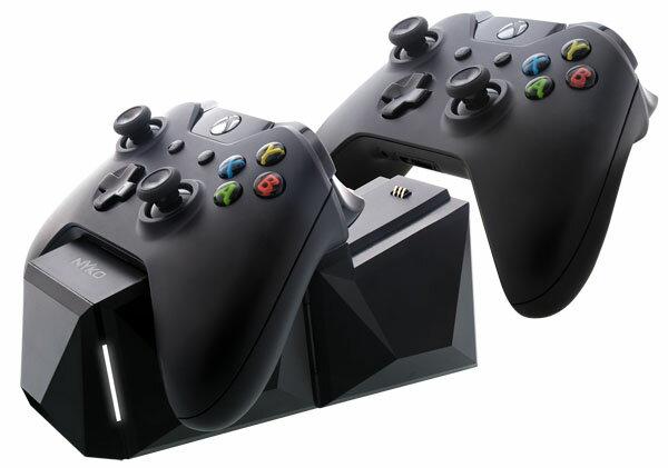 チャージブロック【Xbox One】CHARGE BLOCK DUO【NYKO】置くだけでコントローラーを簡単充電のスグレモノ!