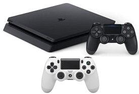 【当社限定品】新品 PlayStation 4 ジェット・ブラック 500GB (CUH-2200AB01)+ワイヤレスコントローラー(DUALSHOCK4) グレイシャー・ホワイト2点セット