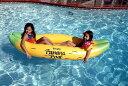 大人気!バナナボート 浮き輪 バナナ型フロータープールや海で!