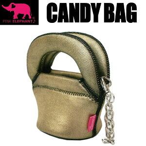 PINK ELEPHANT キャンディーバッグ ダークゴールド 自立式ポーチ