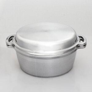 無水鍋 24cm HAL ムスイ KING 鋳造 ダイキャスト アルミ 両手鍋 IH対応 おしゃれ