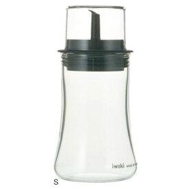 イワキ フタ付醤油差しS KT5031-BK iwaki しょうゆ しょう油 保存容器 調味料容器