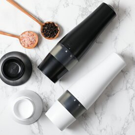【特別価格】京セラ ペッパー ソルト セラミック 電動ミル 黒黒/白白セット CMD-50BK 2個セット【202109ss50】