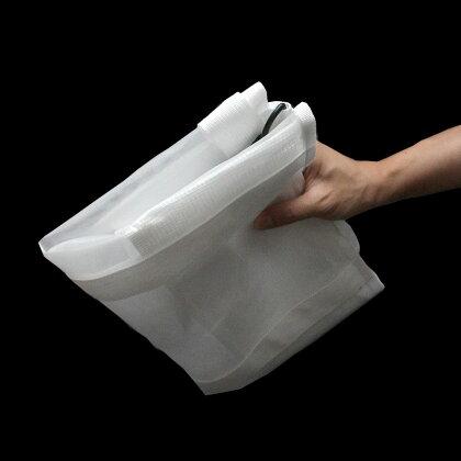 ランドリーバッグショルダー付きメッシュダンドリーホワイト【メール便は送料無料】【dohkon】